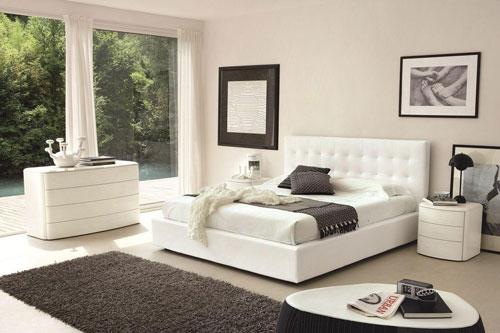спальни в стиле модерн в светлых тонах 18