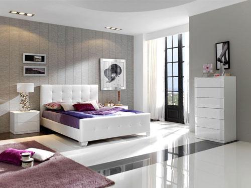 спальни в стиле модерн в светлых тонах 17
