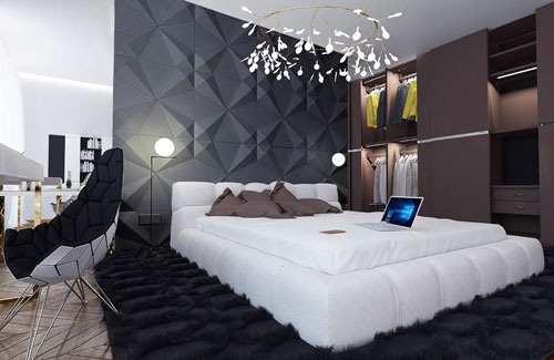 спальни в стиле модерн в светлых тонах 14