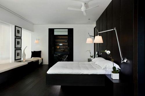 спальни в стиле модерн в светлых тонах 13