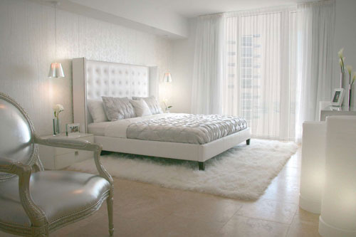 спальни в стиле модерн в светлых тонах 8