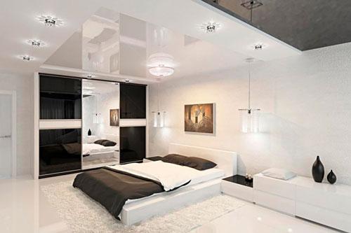 спальни в стиле модерн в светлых тонах 10