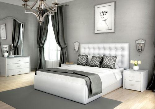 спальни в стиле модерн в светлых тонах 7