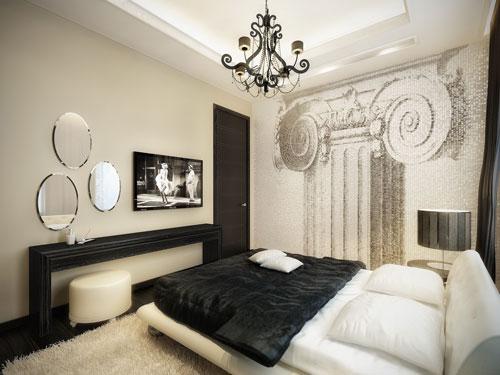 спальни в стиле модерн в светлых тонах 6