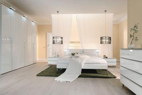 спальни в стиле модерн в светлых тонах 4