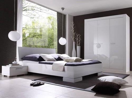 спальни в стиле модерн в светлых тонах 1
