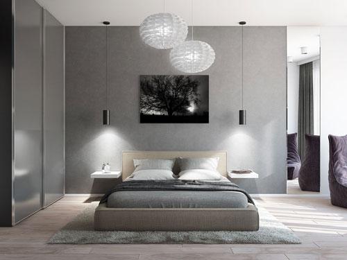 спальни в стиле модерн в светлых тонах 2