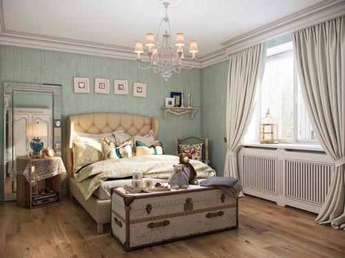 спальня в деревянном доме в стиле прованс 5