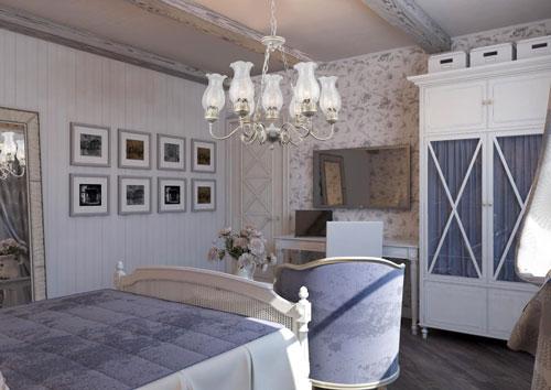 спальня в деревянном доме в стиле прованс 6
