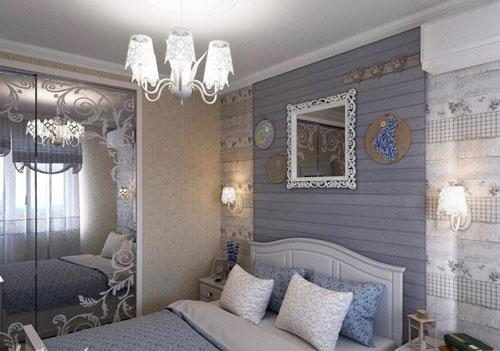 спальня в деревянном доме в стиле прованс 2