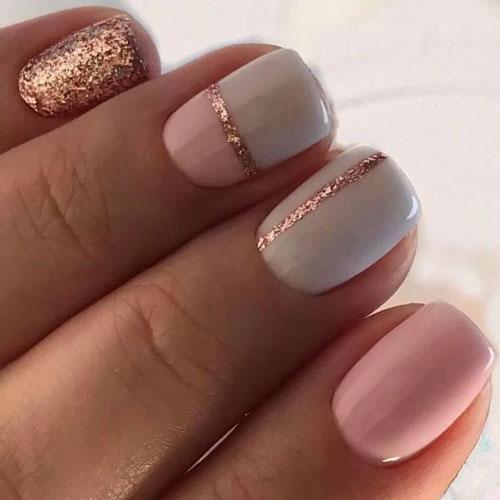 Стильные и изысканные варианты маникюра на короткие ногти 1