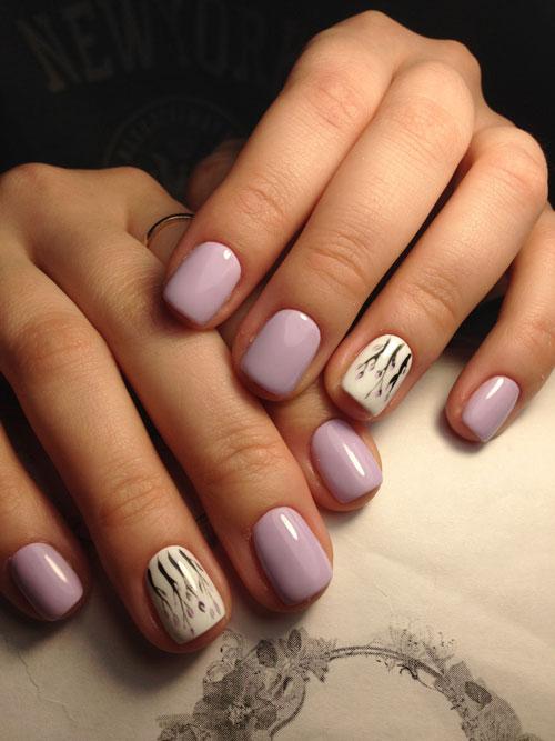 Стильные и изысканные варианты маникюра на короткие ногти 3