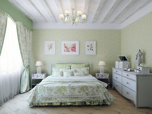 дизайн спальни в стиле прованс 2