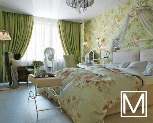 дизайн спальни в стиле прованс 3