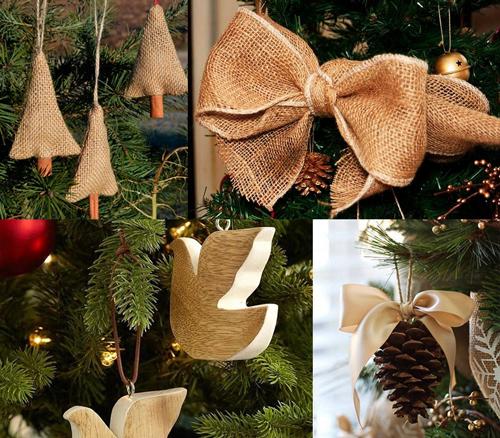 как красиво украсить елку в эко стиле