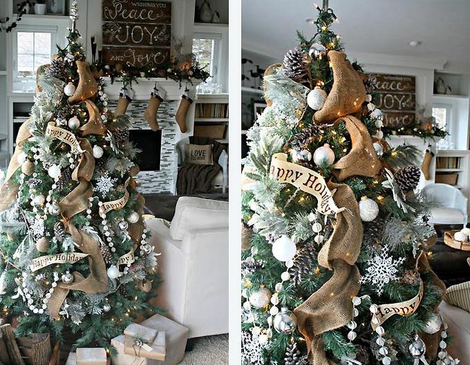 как красиво украсить елку в эко стиле 2