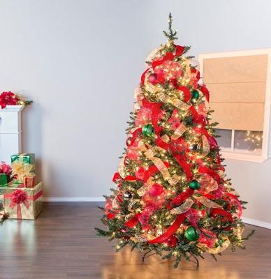 красиво украсить елку на новый год дома 2