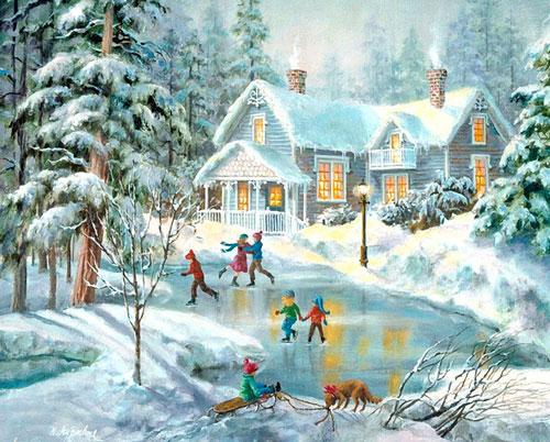 Пословицы про зиму для детей 7-9 лет