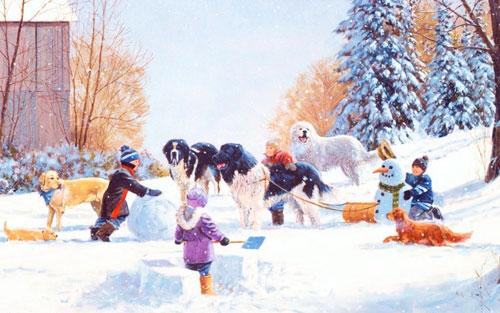Пословицы про зиму для детей 5-7 лет