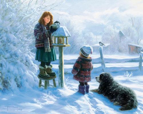 Стихи про зиму для детей 3 лет