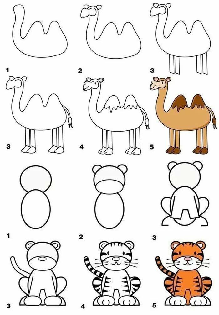 научить ребенка рисовать простые рисунки в 6 лет