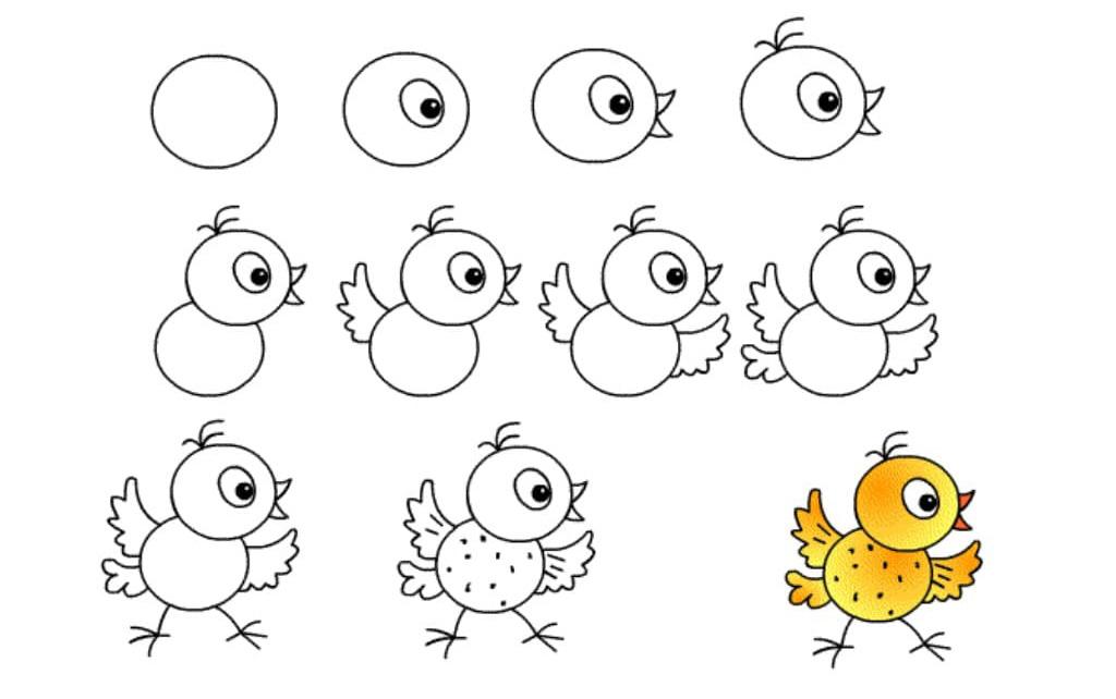 научить ребенка рисовать простые рисунки в 7 лет