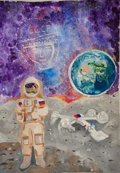 детские рисунки в космосе 2