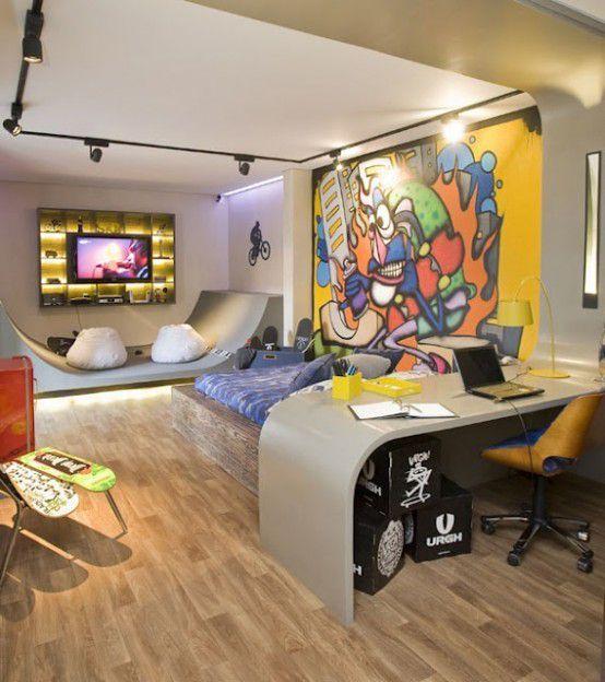 в каком стиле оформить комнату подростка мальчика 2