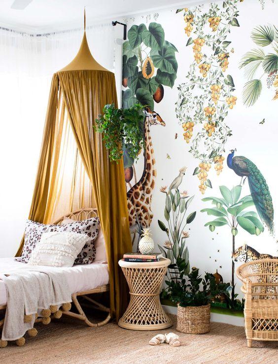 детская комната подростка в стиле сафари
