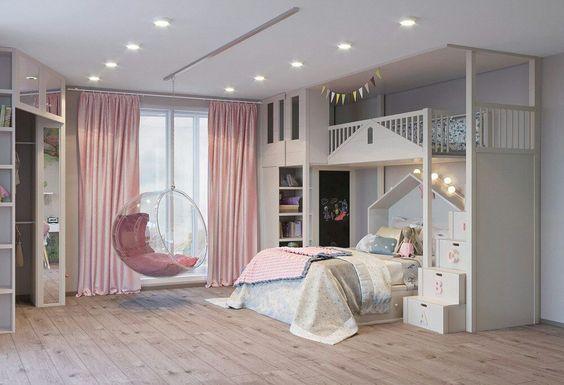 комната девушки в современном стиле