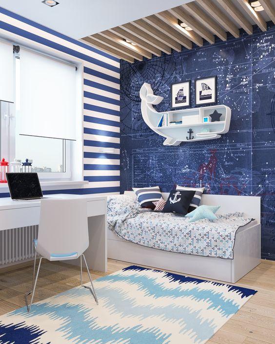 какой дизайн оформления комнаты подростка парня выбрать