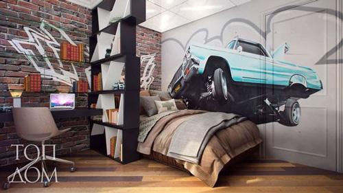 оформление комнаты подростка мальчика в современном стиле 2