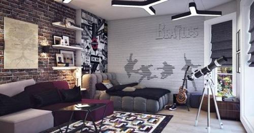 оформление комнаты подростка мальчика в современном стиле 10