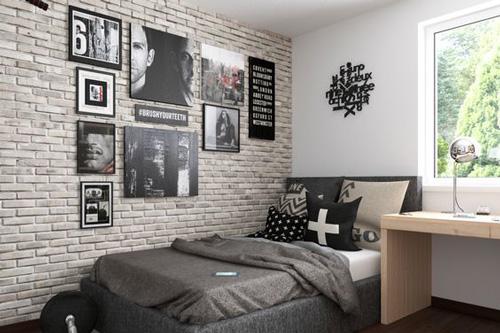 оформление комнаты подростка мальчика в современном стиле