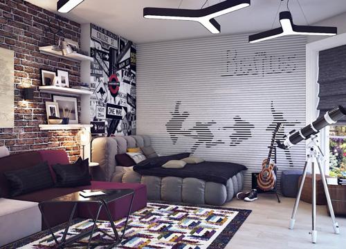 дизайн комнаты подростка 8