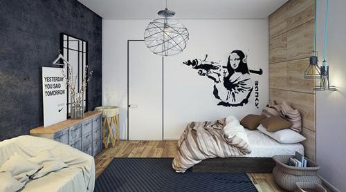 оформление комнаты подростка мальчика в современном стиле 3