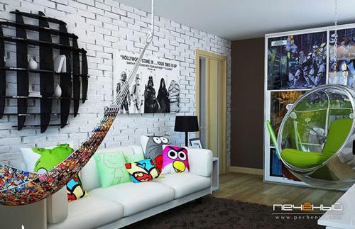 дизайн комнаты подростка в современном стиле 4
