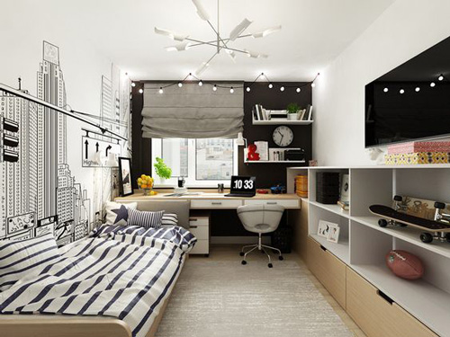 дизайн комнаты подростка в современном стиле 7