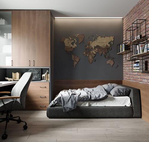 дизайн комнаты подростка в современном стиле 8