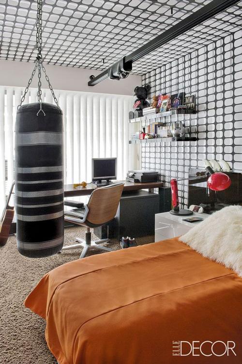 оформление комнаты подростка мальчика в современном стиле 6