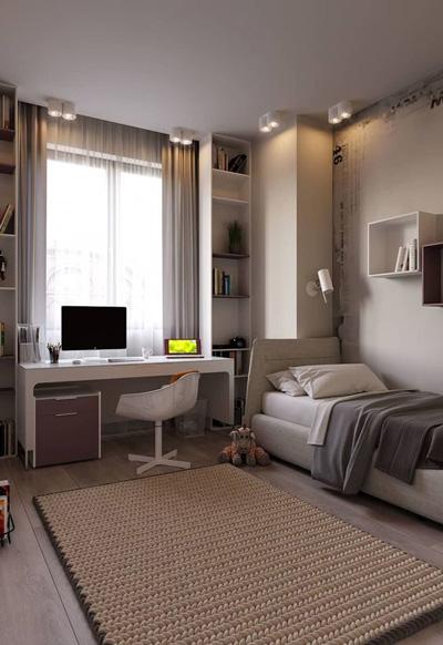 оформление комнаты подростка мальчика в современном стиле 8