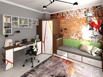 оформление комнаты подростка мальчика в современном стиле 9