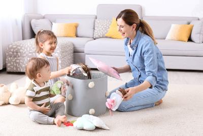 распределение домашних обязанностей в семье с детьми