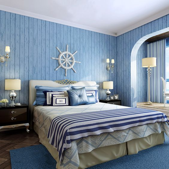 детская комната подростка в морском стиле