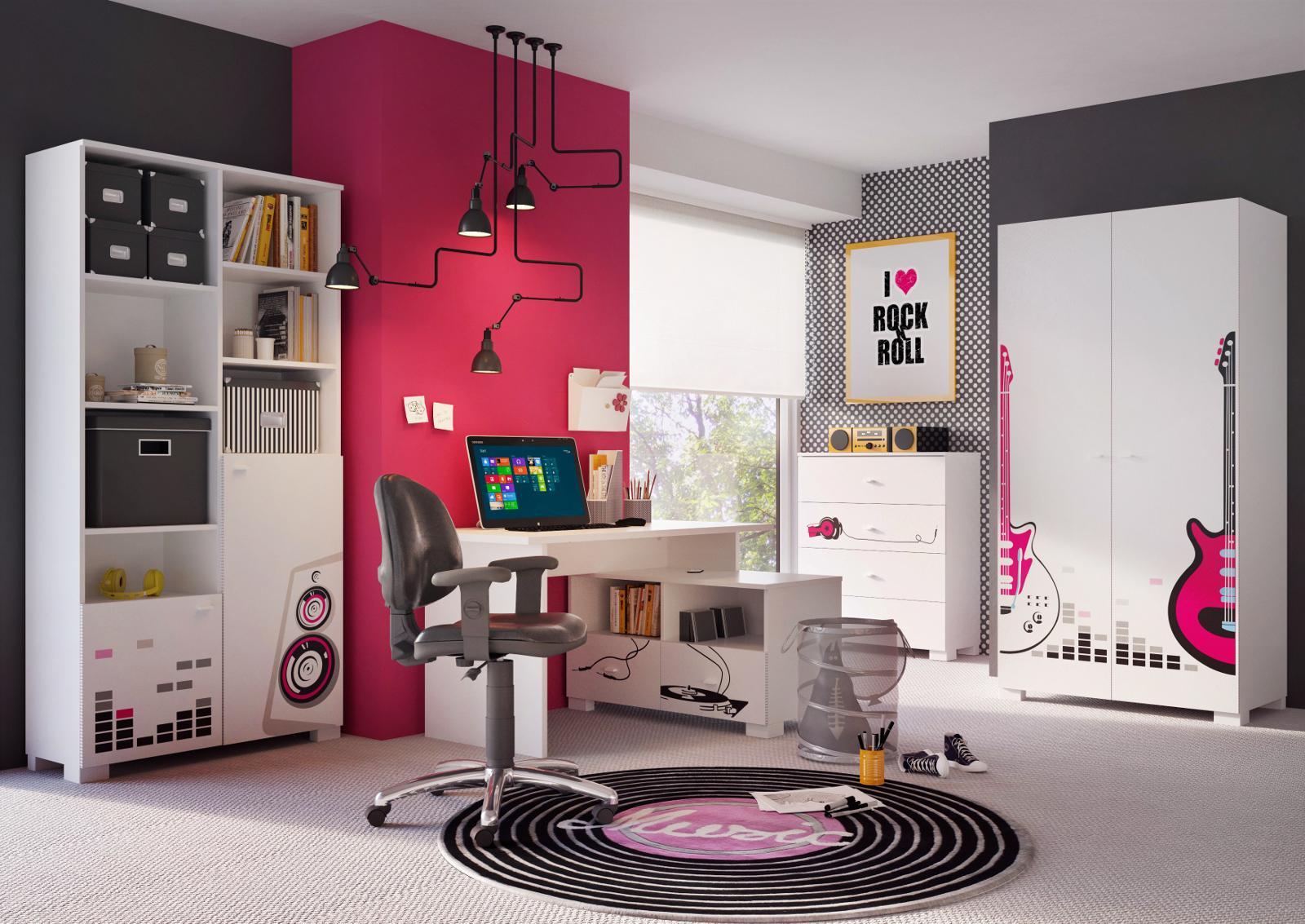 стильная комната подростка девочки