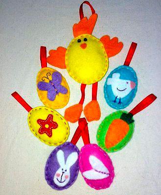 Идеи поделок на Пасху из фетра для детей