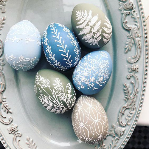 Роспись яиц на Пасху глазурью 2