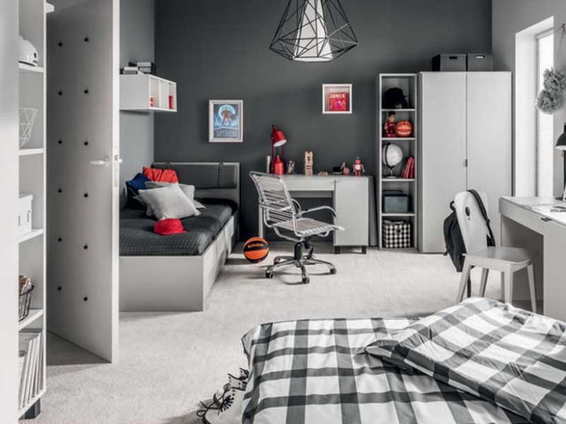 детская комната подростка в классическом хайтек стиле