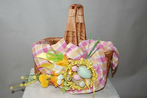 пасхальная корзинка пасхальная корзинка для украшения дома с яйцами для украшения дома