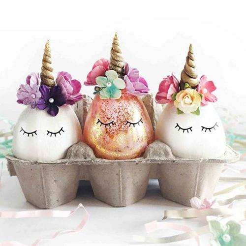 яйца единороги на Пасху
